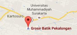 peta grosir batik pekalongan