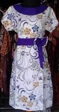 DK398_batikpekalongan_dress_katun_kerahbulat_putihbunga_dedymukti