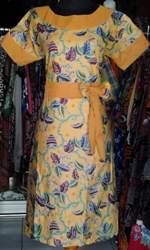 DK475_batikpekalongan_dress_katun_kerut_kerahbulat_daun_ghifa