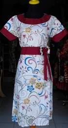 DK480_batikpekalongan_dress_katun_kerahbulat_putihkembang_ghifa