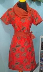 DK657_batikpekalongan_dress_katun_pramugari_daunkipas_mahha