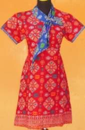 DK994B_batikpekalongan_dress_katun_pramugari_songket_adeeva_oranye