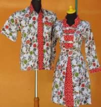 SD997B_batikpekalongan_sarimbit_dress_panjang_wiru_passiflora_mujurjaya_oranye