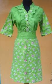 DK1006_batikpekalongan_dress_katun_wiru_sabuk_kelor_wulung