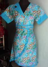 DK1106_batikpekalongan_dress_katun_kerahsegitiga_bambu_khisyam