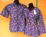 SB1109b_batikpekalongan_sarimbit_blus_kimono_daun_lirda_ungu