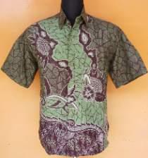 HK1122_batikpekalongan_hem_katun_seragam_hijau_almas