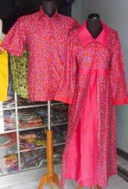 SL1191_batikpekalongan_sarimbit_gamis_jubah_lengkung_zahra_merah