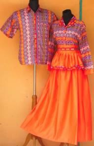 SL1400b_grosir_batik_pekalongan_sarimbit_gamis_velvet_songket_oranye