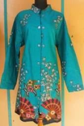 BK1464_batik pekalongan_blus_muslim_katun_jumbo_kipas_fenta