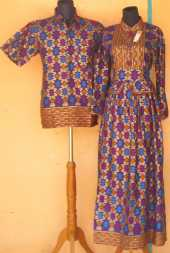 Sl1605 Batik Sarimbit Gamis Firju Baju Batik Pekalongan Murah