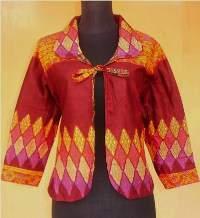 BK1635 grosir batik pekalongan blus bolero bolakbalik sogan metha 156f77be82